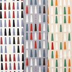 LE DEPART マロニエ柄 大柄 ブッチャー生地W巾PT 綿100% 人気の北欧調幾何学模様柄 生地幅157cm ※50cm以上10cm単位の販売です。購入例・・数量5=50cm