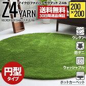 ラグ 円形ラグ 送料無料 シャギーラグ 北欧 rug 200×200 円形 マイクロファイバーシャギー Z4糸 ラグマット シャギーラグ 滑り止め カーペット 洗える 楕円
