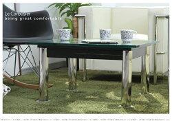 不朽の名作!この価格でこの高品質!LC10コルビジェガラス強化テーブル小ロータイプデザイナーズテーブルモダンテイストモダンリビング北欧テイストナチュラルテイストシンプルテイストデザイナーズシンプル