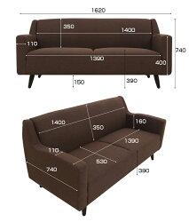 ソファー2人掛けゆったりソファHoei2Pこの価格でこの高品質デザイナーズソファモダンテイストモダンリビング北欧シンプル2人掛けソファ