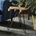 【送料無料】サイドテーブル サイド テーブル 机 ソファーサイド ベッドサイド ミニテーブル ナイトテーブル スタイリッシュ 木製 ナチュラル 変形 おしゃれ ソファーサイド ベットサイド コーヒーテーブル シンプル モダン 北欧 天然木 渋い レトロ 和 洋