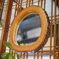【送料無料】ミラー(S)鏡壁掛け天然木