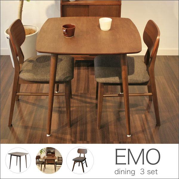 ダイニング 3点セット (幅75cmテーブル&チェア2脚):どんどんどんの家具