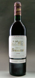 It is Chateau Bouscasse Vieilles Vignes [1998] (Alain Brumont) (アランブリュモン) chateau ブースカッセヴィエイユ ヴィーニュ [1998]