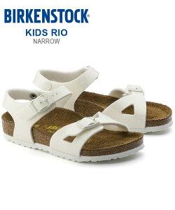 e9960dda261 サンダル ビルケンシュトック キッズ リオ ナロー BIRKENSTOCK シューズ コルクサンダル 幅狭 正規品 KIDS RIO Narrow 靴  アンクルストラップ ベルト .