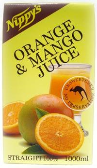 ★ストレート果汁100%★【オレンジ&マンゴージュース(1000ml)】フレッシュなオレンジとマンゴ...