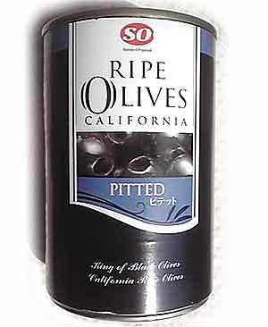 SO【ライプオリーブ(415g)】種抜き・缶入りカリフォルニア産ピテット