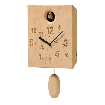 コサインcosineカッコー時計メープル材CW-13CM-D[振り子時計 木製時計 無垢の掛け時計 北欧風のおしゃれな時計 名入れ可能]【P10】