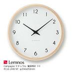 LEMNOS(レムノス)壁掛け時計Campagneカンパーニュナチュラルlm-PC10-24WNT【P10】