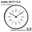 [最大25倍!]LEMNOS(レムノス)掛け時計時計台の時計KK17-13AArabic寸法:φ305×d48mm【P10】【10P17Jun17】