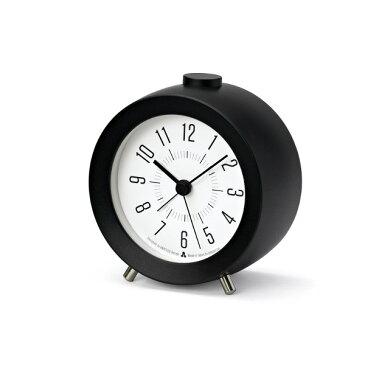 [お得なクーポン発行中]LEMNOS(レムノス)壁掛け時計JIJIalarm(ジジアラーム)ブラックAWA13-04BK【P10】