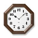 渡辺力八角の時計WR-11-01[デザイン時計掛時計モダン風...