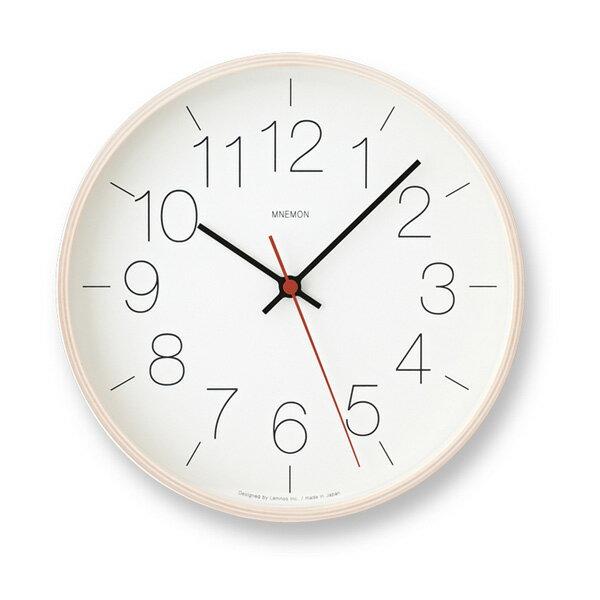 LEMNOS(レムノス)壁掛け時計MNEMON電波時計ナチュラルPC14-01WNT【楽ギフ_包装】【楽ギフ_のし宛書】【RCP】【P10】[沖縄・北海道配送不可]