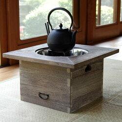 桐の角火鉢