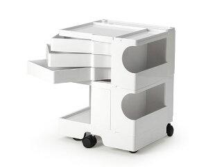 効率的、機能的に収納できるワゴンボビーワゴン送料無料ボビーワゴン2段3トレイホワイト【P2】...