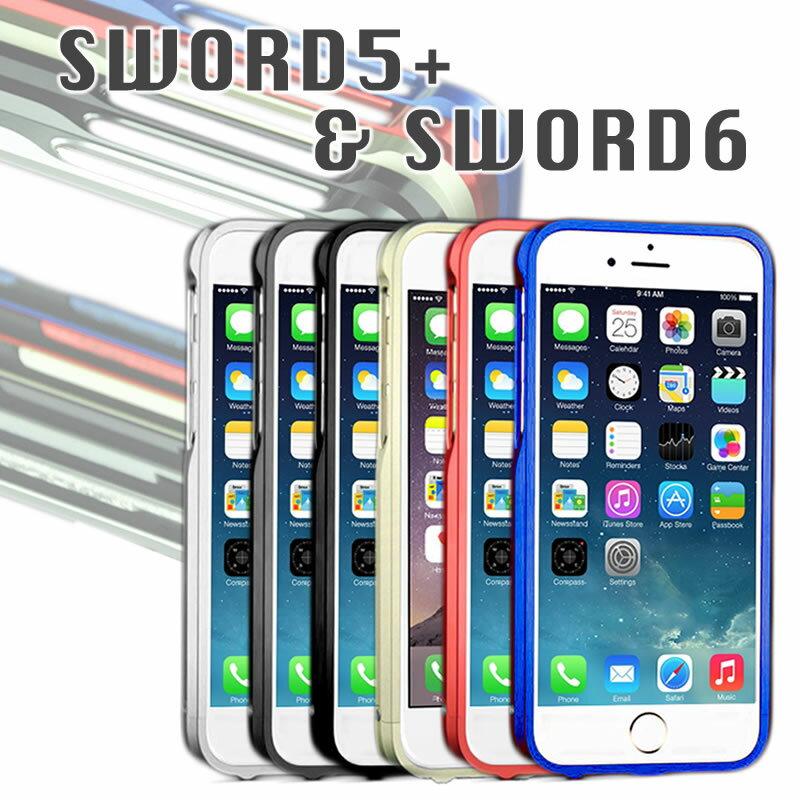 e83991192c 【SWORD6SWORD5+ 正規品】 iPhone6 iPhone5 5s用 アルミバンパー 【 送料無料 】 アイフォン