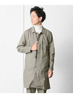 Garment Dyed Cotton Polyester Coat DR56-17A001: Beige