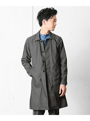 Garment Dyed Cotton Polyester Coat DR56-17A001: Dark Grey