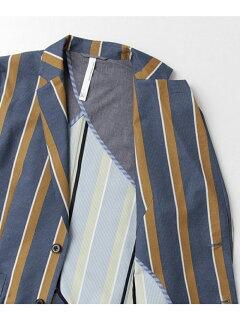 Cool 2-button Jacket DR61-17N006: Stripe