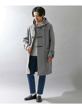Orcival Pile Cut Herringbone Duffle Coat RC-8413NEV: Grey