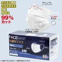 【送料無料】6mm幅広平ゴム 99%カットフィルター ウィルス等を含んだ飛沫対策 大人用 ふつうサイズ マスク 箱入り 50枚セット(3層構造 立体 不織布)