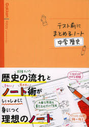 テスト前にまとめるノート中学歴史
