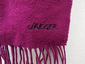 【JAEGER】≪イエガーイギリス製カシミヤマフラー紫≫[状態:B]