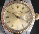 【中古】ROLEX ロレックス オイスターパーペチュアル デイト レディース 腕時計 コンビ K18 6717 6149849
