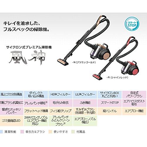 【新品】三菱電機サイクロン式クリーナープレミアムタイプ(風神)シャインレッドTC-ZXF30P-R
