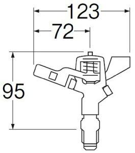 【新品】 三栄水栓 【360度回転するスプリンクラー上部】フルサークルスプリンクラー上部 PC520F-13