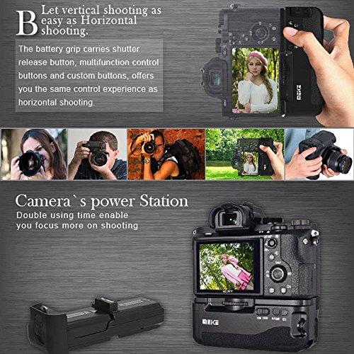 【新品】MeikeMK-A7垂直バッテリーグリップバッテリーホルダーSonyA7A7RIIDSLRカメラに対応2.4GHzワイヤレスリモコン付き【並行輸入品】