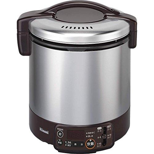 【新品】リンナイこがまるタイマー・ジャー付きガス炊飯器10合炊き・ダークブラウン・都市ガス13A用RR-100VMT(DB)13A
