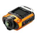 【新品】 RICOH 防水アクションカメラ WG-M2 オレンジ 4K動画 超広角204度 ハウジング不要 防水20m 耐衝撃2m 03801