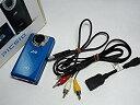 【中古】JVCケンウッド JVC HDメモリーカメラ ブルー GC-FM2-A