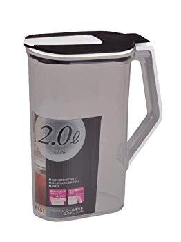 【中古】パール金属 お茶 麦茶 ポット 2.0L ブラック クールポット クールシャープ 日本製 HB-492
