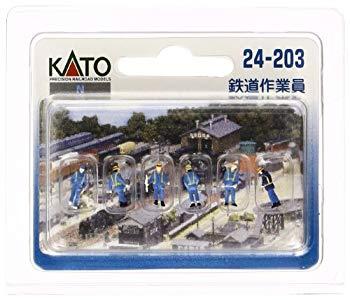 中古 KATONゲージ鉄道作業員24-203ジオラマ用品