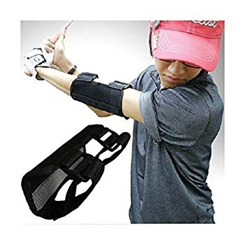 【中古】IZAP ゴルフ スイング 矯正 手打ち 防止 練習 肘 サポータープロ (ブラック)