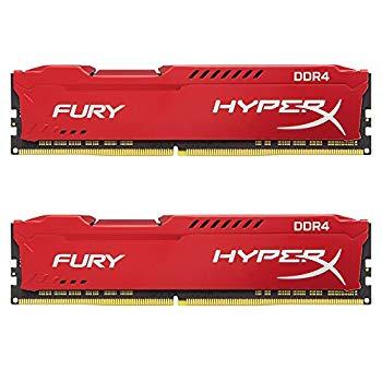 【中古】キングストン Kingston デスクトップ オーバークロック PCメモリ DDR4-2400 8GBx2枚 HyperX FURY CL15 1.2V HX424C15FR2K2/16 永久保証