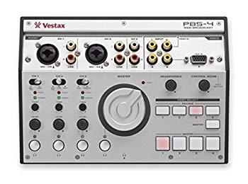 【中古】Vestax ライブ配信向け オーディオインターフェイス PBS-4 ステミキ/ビデオセレクト機能付き
