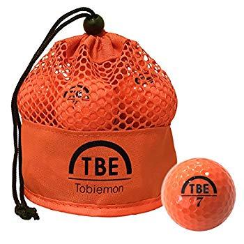 【中古】TOBIEMON(トビエモン) ゴルフボール 公認球 2ピース 1ダース(12個入り) オレンジ メッシュバック入り TBM-2MBO