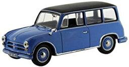 【中古】IST 1/43 AWZ P70 コンビ 1957 ブルー (ルーフ:ブラック) 完成品