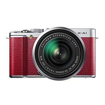 【中古】FUJIFILM デジタルカメラミラーレス一眼 X-A1ズームレンズキット レッド F X-A1R/1650KIT