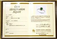 5月の誕生石・Ptエメラルド0.64ct・ダイヤモンドリング
