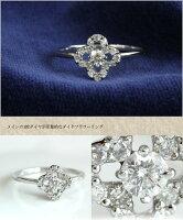 K18WGアメジスト・ダイヤモンドリング