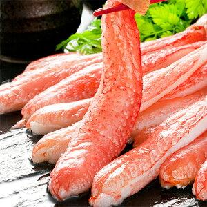【ズワイガニポーション送料無料】【訳あり】4Lズワイガニ【生むき身】1kg【持つ所外れ】折れが少し混合の生冷凍!【かにしゃぶ】蟹鍋バター焼きに最適。【北海道ブランド特大剥き身蟹しゃぶ】