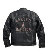 【純正品】HARLEY-DAVIDSON◆ハーレーダビッドソン・Men's Long Way Leather Jacket・メンズ ロングウェイ レザージャケット・革ジャン・ゴートスキンジャケット:98089-15VM [ 532P19Mar16 ]
