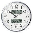 【送料無料】★掛時計レビューでポイント10倍・シチズン 掛時計 (電波時計)パルウェーブカレンダージム