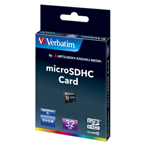 三菱化学メディア Verbatim microSDHCメモリーカード クラス10 容量:32GB