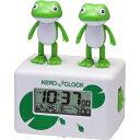 リズム時計 デジタル時計 ケロクロック2(シロ)