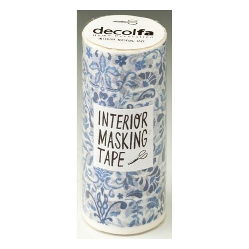 ニトムズ デコルファ インテリアマスキングテープ100_M3706 100mm x 8m(ダマスクブルー)